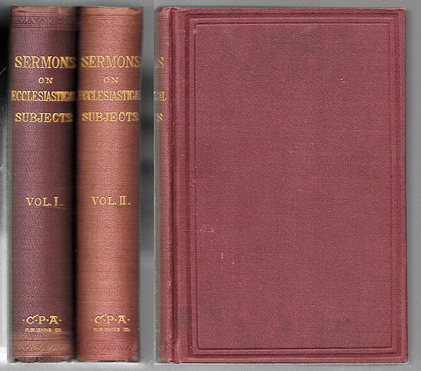 Image for Sermons on Ecclesiastical Subjects, 2 vols.