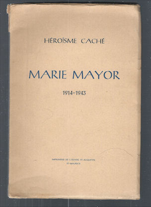 Image for Marie Mayor (1914-1943) (French)