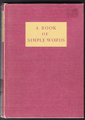 Image for A Book of Simple Words